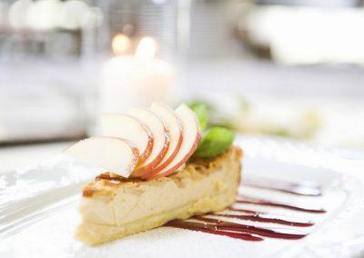Almás sütemény fehér csokoládéval